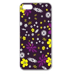 Flowers Floral Background Colorful Vintage Retro Busy Wallpaper Apple Seamless iPhone 5 Case (Clear)