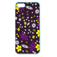 Flowers Floral Background Colorful Vintage Retro Busy Wallpaper Apple Seamless iPhone 5 Case (Color)