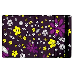 Flowers Floral Background Colorful Vintage Retro Busy Wallpaper Apple iPad 2 Flip Case