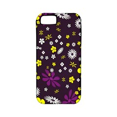 Flowers Floral Background Colorful Vintage Retro Busy Wallpaper Apple iPhone 5 Classic Hardshell Case (PC+Silicone)