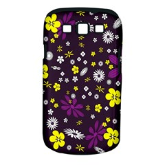 Flowers Floral Background Colorful Vintage Retro Busy Wallpaper Samsung Galaxy S III Classic Hardshell Case (PC+Silicone)