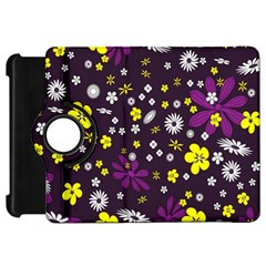 Flowers Floral Background Colorful Vintage Retro Busy Wallpaper Kindle Fire HD 7