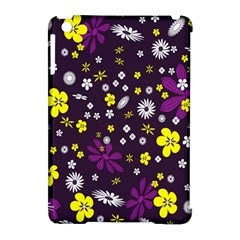 Flowers Floral Background Colorful Vintage Retro Busy Wallpaper Apple iPad Mini Hardshell Case (Compatible with Smart Cover)