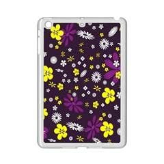 Flowers Floral Background Colorful Vintage Retro Busy Wallpaper iPad Mini 2 Enamel Coated Cases