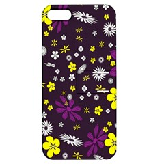 Flowers Floral Background Colorful Vintage Retro Busy Wallpaper Apple iPhone 5 Hardshell Case with Stand