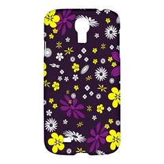 Flowers Floral Background Colorful Vintage Retro Busy Wallpaper Samsung Galaxy S4 I9500/I9505 Hardshell Case