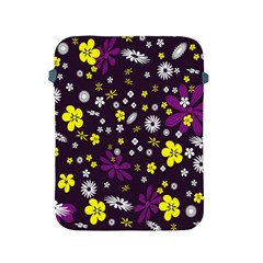 Flowers Floral Background Colorful Vintage Retro Busy Wallpaper Apple iPad 2/3/4 Protective Soft Cases