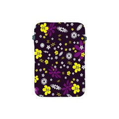 Flowers Floral Background Colorful Vintage Retro Busy Wallpaper Apple Ipad Mini Protective Soft Cases