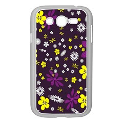 Flowers Floral Background Colorful Vintage Retro Busy Wallpaper Samsung Galaxy Grand DUOS I9082 Case (White)