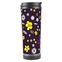Flowers Floral Background Colorful Vintage Retro Busy Wallpaper Travel Tumbler