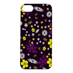 Flowers Floral Background Colorful Vintage Retro Busy Wallpaper Apple iPhone 5S/ SE Hardshell Case