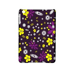 Flowers Floral Background Colorful Vintage Retro Busy Wallpaper iPad Mini 2 Hardshell Cases