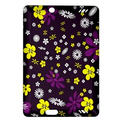 Flowers Floral Background Colorful Vintage Retro Busy Wallpaper Amazon Kindle Fire Hd (2013) Hardshell Case