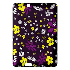 Flowers Floral Background Colorful Vintage Retro Busy Wallpaper Kindle Fire HDX Hardshell Case
