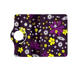 Flowers Floral Background Colorful Vintage Retro Busy Wallpaper Kindle Fire HD (2013) Flip 360 Case