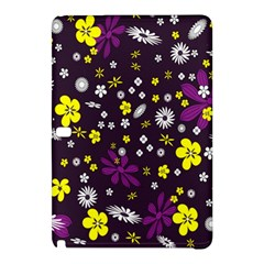 Flowers Floral Background Colorful Vintage Retro Busy Wallpaper Samsung Galaxy Tab Pro 12.2 Hardshell Case