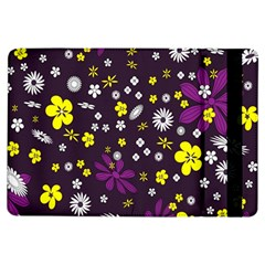 Flowers Floral Background Colorful Vintage Retro Busy Wallpaper iPad Air Flip