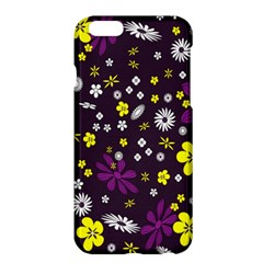Flowers Floral Background Colorful Vintage Retro Busy Wallpaper Apple iPhone 6 Plus/6S Plus Hardshell Case