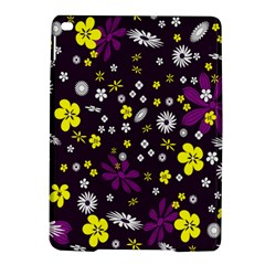 Flowers Floral Background Colorful Vintage Retro Busy Wallpaper iPad Air 2 Hardshell Cases