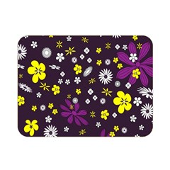 Flowers Floral Background Colorful Vintage Retro Busy Wallpaper Double Sided Flano Blanket (mini)