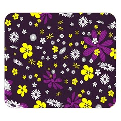 Flowers Floral Background Colorful Vintage Retro Busy Wallpaper Double Sided Flano Blanket (small)