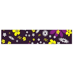 Flowers Floral Background Colorful Vintage Retro Busy Wallpaper Flano Scarf (Small)