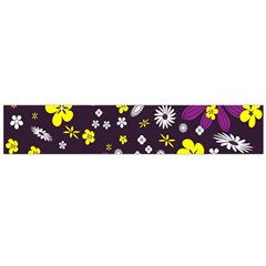 Flowers Floral Background Colorful Vintage Retro Busy Wallpaper Flano Scarf (large)