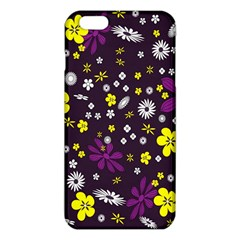 Flowers Floral Background Colorful Vintage Retro Busy Wallpaper iPhone 6 Plus/6S Plus TPU Case