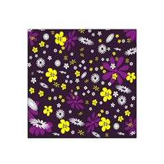 Flowers Floral Background Colorful Vintage Retro Busy Wallpaper Satin Bandana Scarf