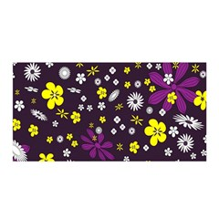 Flowers Floral Background Colorful Vintage Retro Busy Wallpaper Satin Wrap