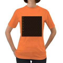 Vintage Paper Kraft Pattern Women s Dark T-Shirt
