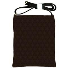 Vintage Paper Kraft Pattern Shoulder Sling Bags
