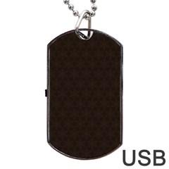 Vintage Paper Kraft Pattern Dog Tag USB Flash (Two Sides)