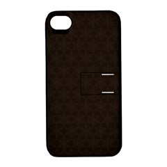 Vintage Paper Kraft Pattern Apple iPhone 4/4S Hardshell Case with Stand