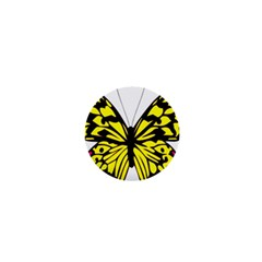 Yellow A Colorful Butterfly Image 1  Mini Buttons
