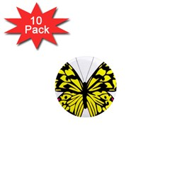Yellow A Colorful Butterfly Image 1  Mini Magnet (10 pack)