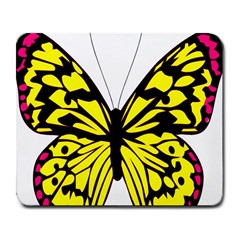 Yellow A Colorful Butterfly Image Large Mousepads