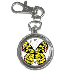 Yellow A Colorful Butterfly Image Key Chain Watches