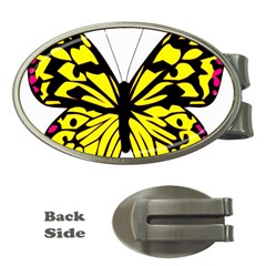 Yellow A Colorful Butterfly Image Money Clips (Oval)