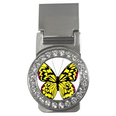 Yellow A Colorful Butterfly Image Money Clips (CZ)