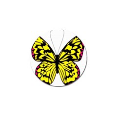 Yellow A Colorful Butterfly Image Golf Ball Marker