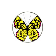 Yellow A Colorful Butterfly Image Hat Clip Ball Marker (4 Pack)