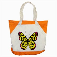 Yellow A Colorful Butterfly Image Accent Tote Bag