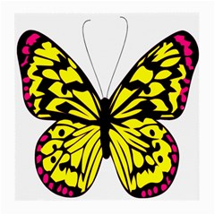 Yellow A Colorful Butterfly Image Medium Glasses Cloth