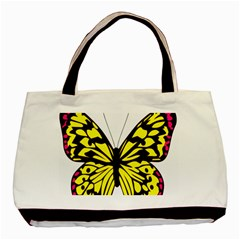 Yellow A Colorful Butterfly Image Basic Tote Bag (two Sides)