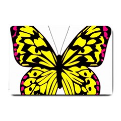 Yellow A Colorful Butterfly Image Small Doormat