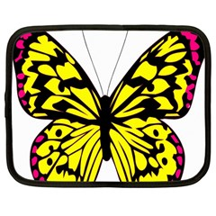 Yellow A Colorful Butterfly Image Netbook Case (large)