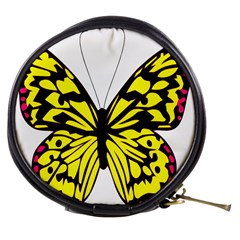Yellow A Colorful Butterfly Image Mini Makeup Bags
