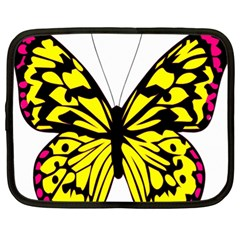 Yellow A Colorful Butterfly Image Netbook Case (xl)