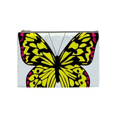 Yellow A Colorful Butterfly Image Cosmetic Bag (medium)
